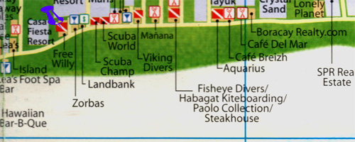 map of free willys diving